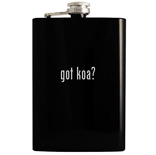 got koa? - Black 8oz Hip Drinking Alcohol Flask ()