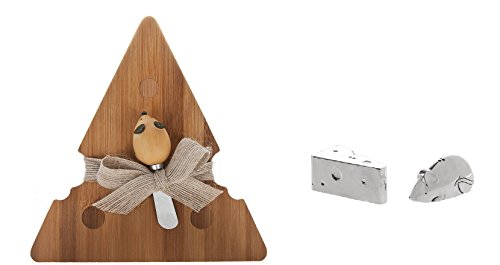 (Ganz Mice & Cheese Snack Board with Spreader and Salt & Pepper Shaker Set)