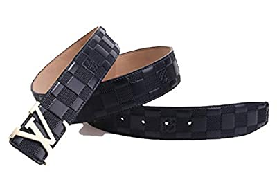 Donpen Leather Metal Gold Buckle Belt Casual Business For Men