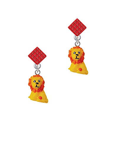 Resin Yellow Lion - Red Lulu Diamond-Shaped (Red Lion Diamond)