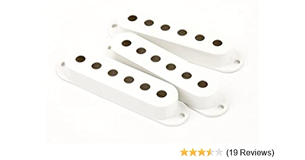 Fender Vintage Noiseless Stratocaster Pickups Set Amazon Com >> Fender Pickup Covers Stratocaster White