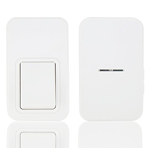 Transmitter Eco - Wireless Doorbell Kit,ANG Waterproof Door Chime,No Battery Required for both Transmitter and Receiver,3-Level Volume,38 Ring Tones