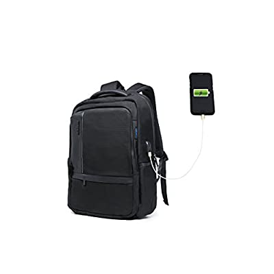 delicate Laptop Backpack-Lightweight Computer backpack,Water Resistant Laptop Backpack With USB Charging Port School Bookbag for 15.6-Inchand Notebook,Black
