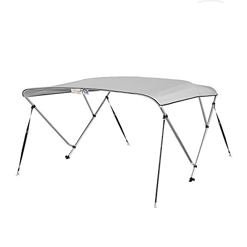 Bimini Top Boat Cover 36'' H X 79''-84'' W 6' Long 3 Bow Gray by Marine and RV Direct