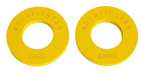 Ader Olympic Fractional Plates Pair- .5 Kg Yellow by Ader Sports