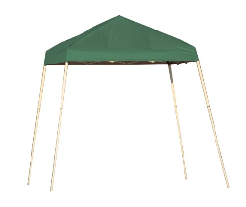 8x8 Slant Leg Pop-up Canopy, Green Cover, Carry Bag