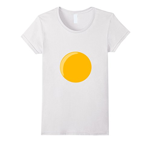 Egg Costume Women (Womens Deviled Egg Fried Egg Funny Halloween Costume T-shirt Large White)