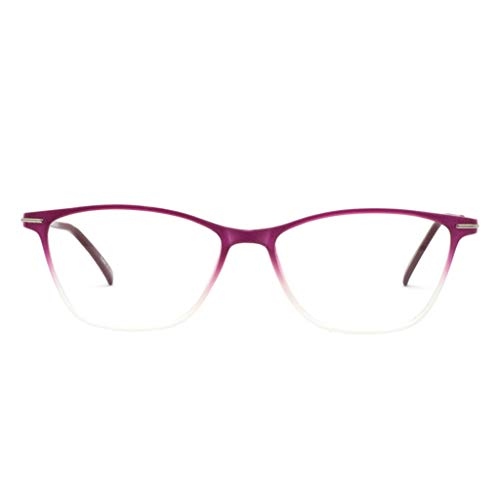OCCI CHIARI Thin TR90 Red Rectangular Womens Fashion Anti Blue-Ray Reading Glasses1.0 1.5 2.0 ()