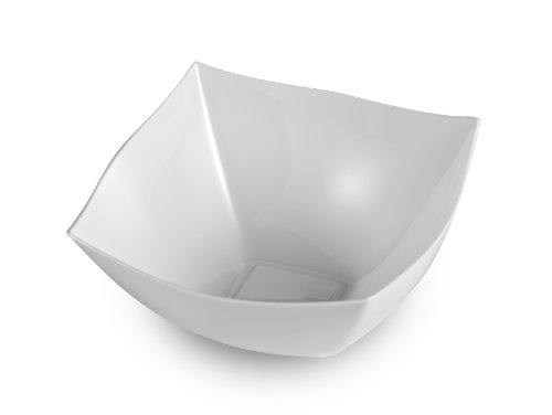 EMI Yoshi EMI-SB8W 8-Ounce Square Plastic Bowl, Mini, White, 48 Per Case