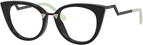 FENDI Eyeglasses 0119 0AQM Black ()