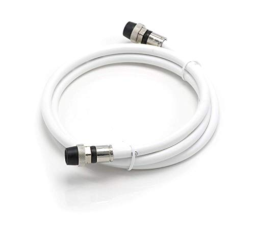 Price comparison product image THE CIMPLE CO - 10' Feet, White RG6 Coaxial Cable | Made in The USA | with Rubber booted - Weather Proof - Outdoor Rated Connectors, F81 / RF, Digital Coax for CATV, Antenna, Internet, Satellite