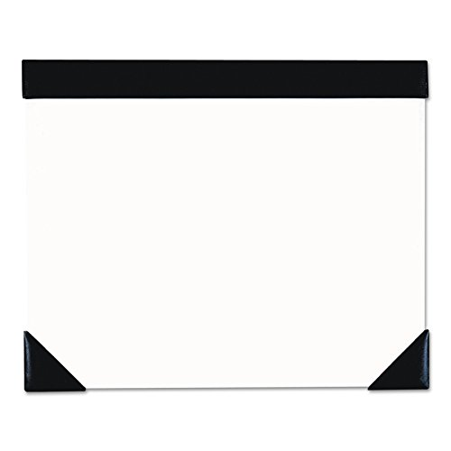 5002 Executive Doodle Desk Pad, 25-Sheet White Pad, Refillable, 22 x 17, Black/Silver (White Desk Pad Calendar)