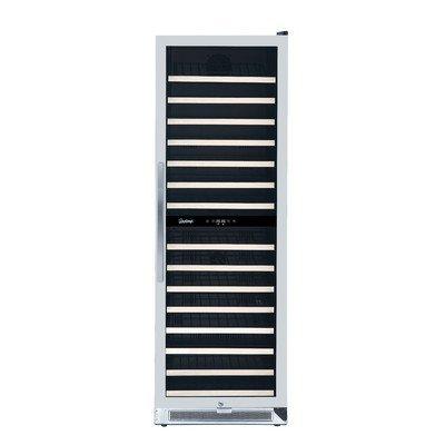 Vinotemp VNTVT-150-2Z-SSDST 155-Bottle Dual-Zone Connoisseur Series Wine Cooler