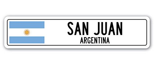 Cortan360 SAN JUAN, ARGENTINA Street Sign Decal Argentinian flag city country road wall gift 8