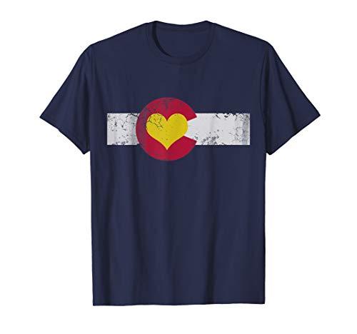 Colorado Flag Heart T-Shirt Love Kids Women Men Gift