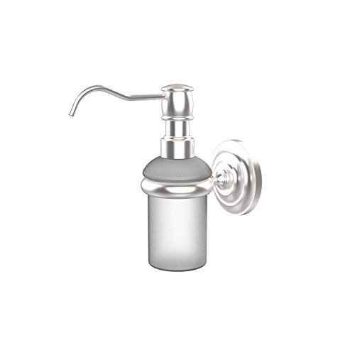 (Allied Brass PQN-60-SCH Prestige Que New Collection Wall Mounted Soap Dispenser, Satin Chrome)