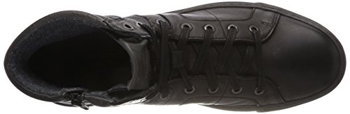 camel active Bowl 35, Sneaker a Collo Alto Uomo Nero (Black/Grey 2)
