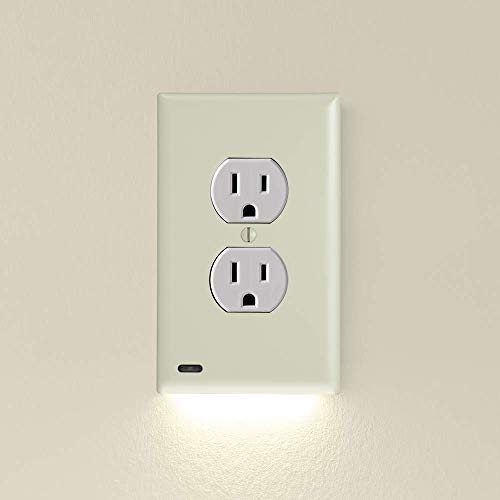 5 Pack, SnapPower GuideLight 2 for Outlets [New Version - LED Light Bar] - Night Light - Electrical Outlet Wall Plate With LED Night Lights - Automatic On/Off Sensor - (Duplex, Ivory) (Ivory 2)
