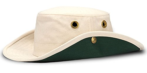 Tilley Endurables T3 Traditional Canvas Hat,Natural/Green,7.375