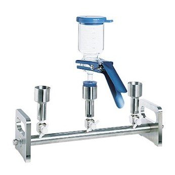 Advantec 353300 Vacuum Filtration Manifold; Stainless Steel 6-Branch with 2-Way Valves COLE-PARMER