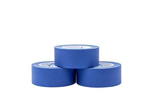 3 Pack 1.88'' Blue Painters Tape, medium adhesive that sticks well but leaves no residue behind, 60 yards Length, 3 Rolls, 180 Total Yards by Blue Summit Supplies