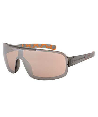 Porsche Design Sunglasses For Men P8528 (Grey A) 135 mm shield mirrored sport - Design Sun Porsche Glasses