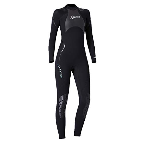 Bravetoshop Women's Keep Warm Sunscreen Swimming,Surfing and Snorkeling Diving Coverall Suit(Black,S)