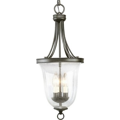 Light Foyer Fixture Forged - 3 Light Foyer Pendant Finish: Forged Bronze