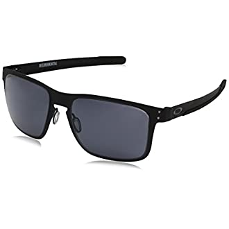 Oakley Holbrook Metal Square Sunglasses, Matte Black /Gray 55 mm