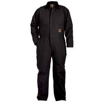 Berne Mens Big-Tall Deluxe Insulated Coverall, Black, 4X-Large/Tall (Deluxe Insulated Coverall)