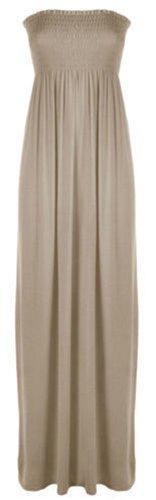 Xclusive Collection - Vestido - plisado - Básico - para mujer moca