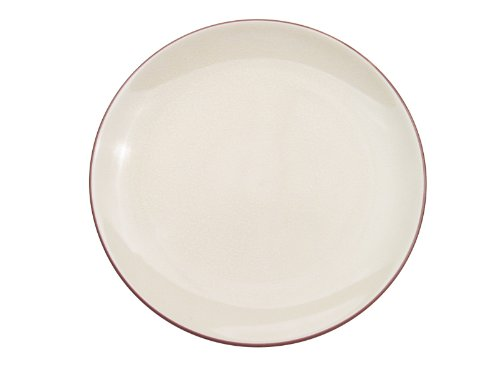 CAC China 666-16-W Japanese Style 10-Inch Creamy White Coupe Round Plate, Box of 12 by CAC China
