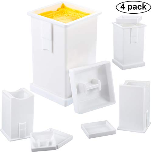 4 Pieces Butter Spreader with Built-In Cover Dishwasher Safe Corn Cob Butterer Plastic Butter Dispenser on Pancakes, Waffles, Bagels, and Toast ()