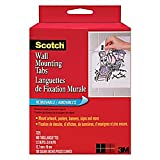 Office Products : Scotch Wall Mounting Tabs 7225, 1/2-inch x 3/4 Inches, 480 Tabs per Box