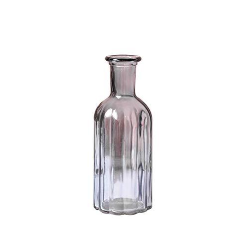 Cozylkx Vintage Solid Color Vases Hand Blown Art Glass Vase Centerpiece Bud Vases Home Décor, Smoke