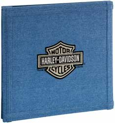 Harley Davidson Motorcycle 12'' x 12'' Denim Scrapbook Album (HDSA02) by EK Success