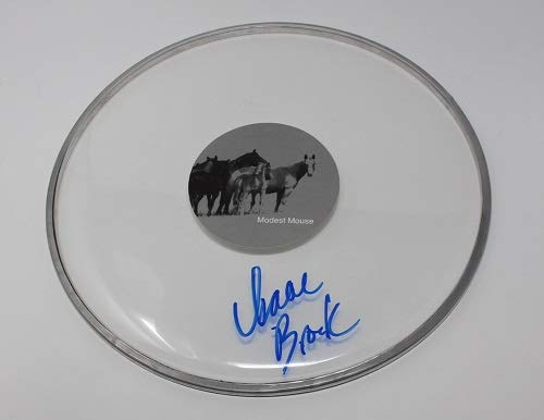 Modest Mouse Good News For People Who Love Bad News Isaac Brock Signed Autographed Drum Skin Drumhead Loa