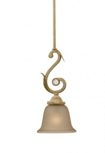 Pendant Light Winslow 1 - Crystorama 6701-CM, Winslow Mini Cone Pendant, 1 Light, 100 Total Watts, Champagne