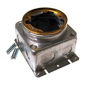 Raco Round Fully Adjustable Stamped Steel Concrete Floor Box 54 Cu. In.