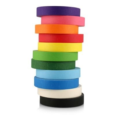 #1 Craft Multi Colored Masking Tape [11 Pack - Hat Shipping Box