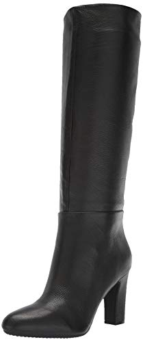 Aerosoles Women's Hashtag Knee High Boot, Black Leather, 9.5 M US