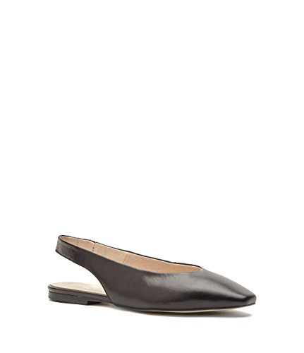 Italy Black de Sling Leather Made PoiLei mujer Ballerinas Back in Marlis Zapatos gxw86qPfq