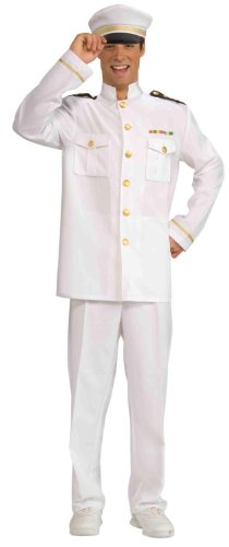 Navy Officer Costumes (Forum Novelties Men's World War Heroes Navy Officer Jacket, White, One Size)