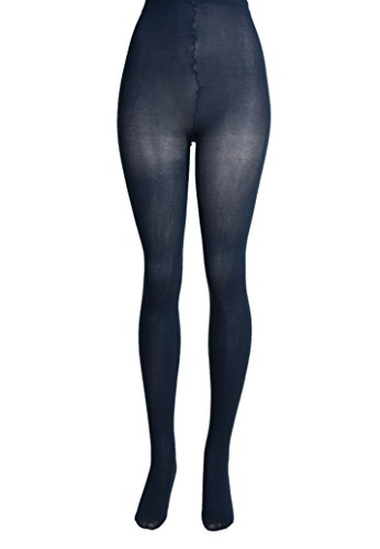 (Lissele Women's Plus Size Opaque Tights Pack of 2 (Navy,)