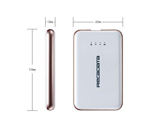 irecadata i7 Mini External 128GB Wireless WIFI USB 3.1 Portable Solid State Drive SSD Wifi Router 2250mah Powerbank by irecadata (Image #5)