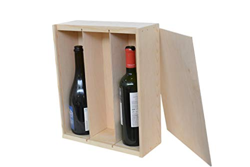 (Wine box 3 Bottle with Slide-top Made out of Western Pine)