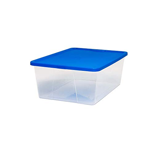 - Homz Plastic Storage Sweater Box, With Lid, 12 Quart, Clear, Stackable, 8-Pack