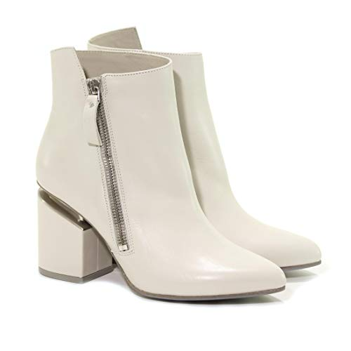 Mujer Blanco Vic Matié Botines 1t6978dt24r020102 Cuero 6vZZwP