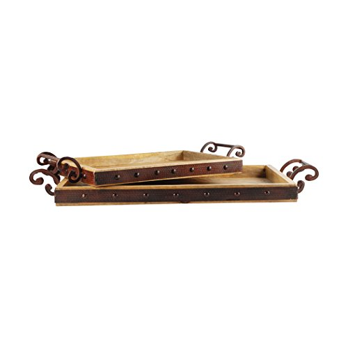(Traditional Décor Collection Telluride Set of 2 Trays)