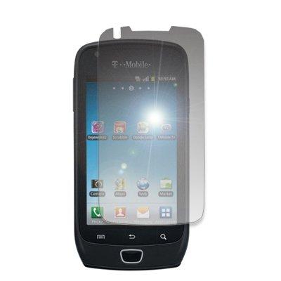 EMPIRE Orange Silicone Skin Case Tasche Hülle Cover + Mirror Displayschutzfolie Film for T-Mobile Samsung Exhibit 4G